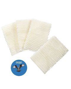 HQRP 4-pack Wick Filter for Honeywell HCM-750 Series HCM750, HCM-750B, HCM750B, HCM-750-TGT, HCM750TGT Humidifiers + HQRP Coaster