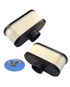 HQRP 2-pack Air Filter for Exmark Metro / Viking / TURF TRACER S-Series / VANTAGE S X Series / LAZER Z E-Series (LZE) Walk Behind Mower + HQRP UV Meter