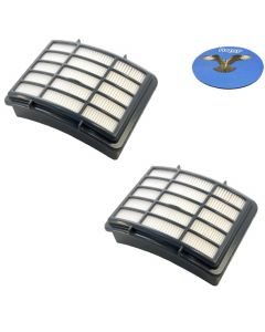 HQRP HEPA Filter 2-Pack for Shark XHF350 fits Navigator Lift-Away NV350 NV351 NV352 NV350_26 NV355 NV356 NV357 NV360 NV360-26 NV351-26 NV352-26 NV350WC XH-F350 Series Vac Vacuum Cleaner + HQRP Coaster