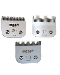 HQRP 3pcs Clipper Blades Set, Sizes 7F /10 / 30 for Poodle Hair Cutting Sporting Miami Terrier Style, Dog Grooming Clipping Trimming + HQRP Coaster