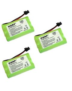 HQRP 3-Pack Battery for Uniden BT-1004 / BT1004 BT-909 BT909 TRU5885 TRU5885-2 TRU8065 TRU8860 TRU8865 TRU8865-2 TRU9460 TRU9465 TRU9466 TRU9480 TRU9485 DCT746M DCT748 Cordless Phone + Coaster