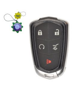 HQRP Remote Key Fob Shell Case Keyless Entry w 5 Buttons for Cadillac ATS 2014 2015 2016 2017 SRX 2015 2016 plus HQRP UV Meter