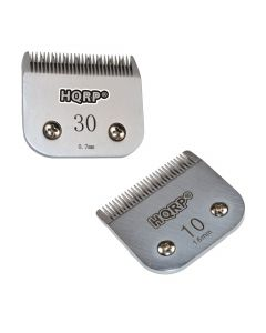 HQRP Kit: Pet Clipper Blades - Size 10 + Size 30 - for Sanitary Prep, Clipping Ears, Pads of Feet, Face, Throat, Base of Tail / Horses Body Clipping, 1.6mm & 0.7mm + HQRP Coaster