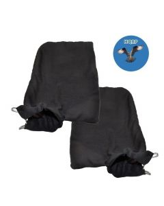 """HQRP 2-pack Dust Bag for Hitachi 322955 / 976478 / 998-845 Replacement fits Hitachi 10"""" and 12"""" Compound Miter Saws + HQRP Coaster"""