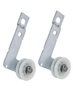 HQRP 2-Pack Dryer Idler Pulley with Bracket Assembly Replacement for KitchenAid KEHS01PMT0 KEHS02RMT0 KEHS02RMT1 KGHS01PMT2 KGHS01PWH1 KGHS02RWH0 YKEHS01PMT2 YKEHSO2RWH1 YKEHSO2RWHO plus HQRP Coaster