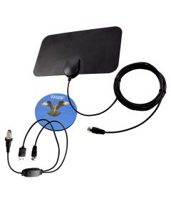 HQRP HDTV Amplified 4K 1080p 35-50 miles antenna for Sony KDL40BX450 / KDL40W650D / KDL-46EX600 / KDL-46EX500 / KDL48W650D / KDL-52V5100 / KDL-52W4100 / KDL-52XBR5 / KDL55EX710 + HQRP Coaster