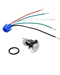 HQRP 24V Push Button Air Horn Switch with Wire Connector for Car, Truck, Tractor, Chopper, Motorcycle + HQRP Coaster
