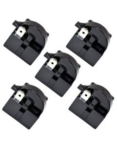 HQRP 5-Pack QP2-4R7 4.7 Ohm 3-Pin PTC Starter / Start Relay for Magic Chef 6R8MD3, AP4565041, 1206682 Replacement fits MCBR1000S MCBR1000W MCBR1010GS MCBR1010S MCBR1010W plus HQRP Coaster