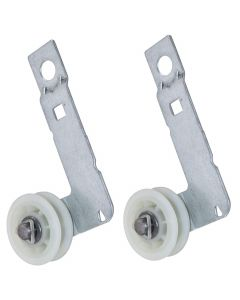 HQRP 2-Pack Dryer Idler Pulley with Bracket Assembly Replacement for Maytag 3LMEDC100YW0 3LMEDC100YW1 MEDE400XR0 MEDE400XW0 MGDE300VF2 MGDE300VF3 YMED9000YR0 YMED9000YR1 plus HQRP Coaster