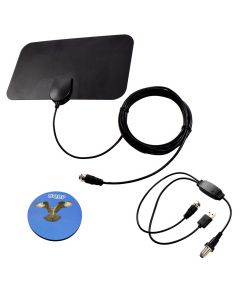 HQRP HDTV Amplified 4K 1080p 35-50 miles antenna for Hitachi LE42H508 / LE42H508A / LE42S704 / LE42S606 / LE43A6R9 / LE46H508 / LE49S508 / LE50H508 / LE55G508 / LE55H508 / LU43V809 + HQRP Coaster