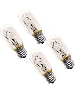 HQRP 4-Pack 40-Watt T8 40T8 Indicator Intermediate (E17) Base Tubular Incandescent Light Bulbs compatible with Appliance Microwave Oven Refrigerator Kitchen Vent Hood Range Hood Lights plus Coaster