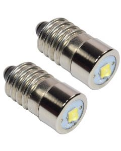 HQRP 2-Pack LED Conversion Upgrade Bulbs for Torch bike bicycle front light plus HQRP Coaster