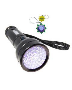 HQRP 51 LEDs 390nm Blacklight UV Flashlight for Glass Repair, Art Forgery / Repair tests, Antique Inspection plus HQRP UV Meter