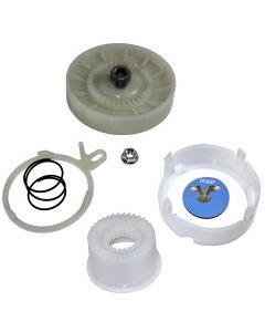 HQRP Cam Clutch Kit for Maytag MVW18CSAWW0, MVW18CSBWW0, MVW18MNAWW0, MVW18MNBWW0, MVW18PDAWW0, MVW18PDAXW0, MVW18PDBWW0 Washer Drive Pulley + HQRP Coaster