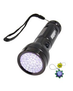 HQRP 390nm Blacklight UV Flashlight 51 LEDs for Document Forgery Analysis, Currency / Bill Verification plus HQRP UV Meter