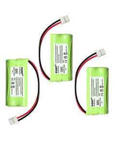 HQRP Phone Battery 3-Pack for VTech CS6719-2 DS6501 CS6529-2 CS6649 CS6649-2 CS6719 Cordless Telephone + HQRP Coaster