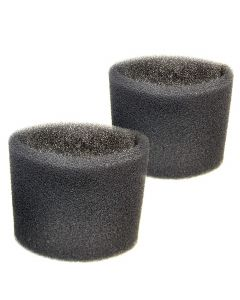 HQRP 2 Foam Filter Sleeves for Shop-Vac 90L400 90L500 90L500A 90L550A 90L600 90L600A 90L600C 90L650A 90L650C 90LN550A 90LN650C Wet Dry Vacuums