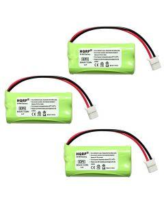 HQRP Phone Battery 3-Pack for VTech CS6449 CS6419-2 CS6419-3 CS6419-4 CS6419-16 CS6449-2 CS6449-3 CS6400 CS6419 CS6409 CS6119 CS6128-31 CS6128-32 CS6128-41 CS6128-42 Cordless Telephone + Coaster