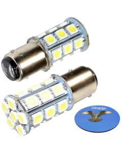 HQRP 2-Pack LED Light Bulb for Aqua-Signal Series 40 41 42 50 Masthead Light Marine Navigation 3541002000 3108104000 3540002000 40400 40420 40000 40001 40020 10-30V + HQRP Coaster