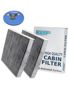 HQRP 2-Pack Carbon A/C Cabin Air Filter for Toyota RAV4 RAV 4 2006-2017 ; Matrix 2009-2014 ; Mirai 2016-2017 ; Yaris 2006-2017 plus HQRP Coaster