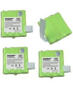 HQRP 4-Pack Battery for MIDLAND BATT6R LXT480 LXT490 LXT490VP3 LXT318 LXT319 LXT320 LXT340 LXT340VP3 LXT345 LXT345VP3 LXT360 LXT360VP3 LXT365 LXT365VP3 LXT376 LXT380 Two-Way Radio + Coaster