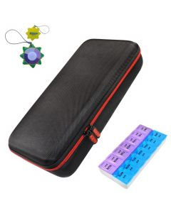HQRP Hard Case and Pill Organizer for Omron Stethoscope plus HQRP UV Meter