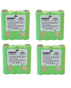 HQRP 4-Pack Battery for Cobra FA-BP FABP FRS100 FRS104 FRS105 FRS110 FRS115 PR4500W PR4500 FRS130 FRS132 FRS220 FRS235 FRS250 FRS300 FRS80 FRS85 PR1050-WX PR135 PR945 Two-Way Radio + Coaster