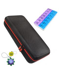 HQRP Hard Case and Pill Organizer for MDF Stethoscope plus HQRP UV Meter