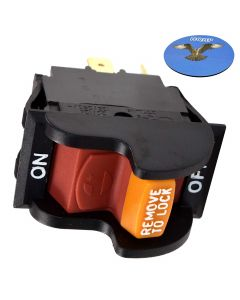 HQRP On-Off Toggle Switch for Delta 31-120 31-250 31-252 31-255X 31-340 31-460 31-695 31-750 31-780 SA350 SA446 SM500 Sander 22-540 22-560 22-565 22-580 Planer + Coaster