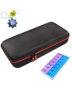HQRP Hard Case and Pill Organizer for Stethoscope plus HQRP UV Meter