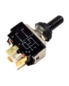 HQRP Toggle Switch for Jack Quick JQ-OS 3000 3500 Series Electric Tongue Jacks + HQRP Coaster