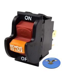 HQRP On-Off Toggle Switch for Delta 22-540 23-655 23-675 28-150 28-195 28-560 31-325 36-977 36-978 36-979 36-980 36-981 36-982 37-275X 37-380 46-715 Power Tools Planer Band Saw Grinder + Coaster