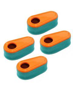 HQRP 4-pack Air Filter Kit (Cartridge & Pre-Cleaner) for Troy-Bilt TB330XP TB350XP TB360 12ABD3B 12AI869 12AI839 series Walk-Behind Mower + HQRP Coaster