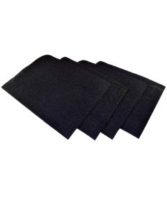 HQRP 4-pack Activated Carbon Filter for Honeywell HPA200, HPA202, HPA204, HPA250, HPA250B Air Purifiers + HQRP Coaster
