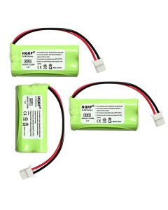 HQRP Phone Battery 3-Pack for ATT LUCENT EL52510 TL32100 TL32200 TL92470 EL52400 EL52450 EL52500 Cordless Telephone + Coaster