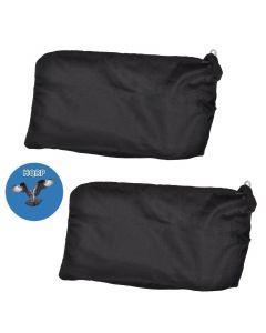 HQRP 2-pack Dust Bag for Hitachi C8FB C8FB2 C8FS C8FSC C8FSE C8FSHE C8FSHE Slide Compound Miter Saws / P20ST Planer + HQRP Coaster