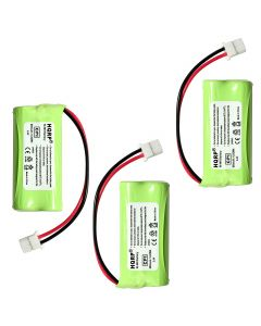 HQRP Phone Battery 3-Pack for VTech TR07-2013 LS6315 LS6315-2 DS6641-2 TR02-2013 TR05-2013 TR06-2013 LS6315-3 Cordless Telephone + HQRP Coaster