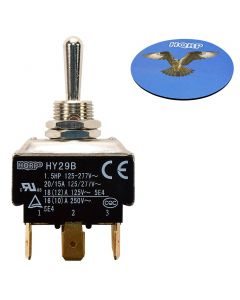 HQRP Momentary Toggle Switch for 5100856X1 HY29B Ferris Simplicity Snapper Pro EZ Dump DFS 24542 30-050 + HQRP Coaster
