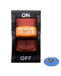 HQRP On-Off Toggle Switch for Delta 489105-00 11-900 11-950 11-980 11-985 11-990 14-040 17-900 DP400 DP300L 17-950L Drill Press, 34-670 36-600 36-977 36-978 36-980 36-981 TS200LS Table Saw + Coaster