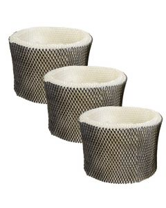 HQRP 3-pack Wick Filter for Honeywell HEV680 HEV685 series HEV-680B HEV680B HEV-680W HEV680W HEV685B HEV685W Humidifiers, HC-14 HC-14N Filter E Replacement + HQRP Coaster