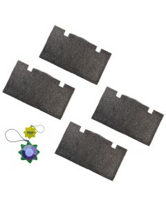 HQRP 4 pcs AC Foam Air Filter for Dometic 3105935 3105935.047 3105935.039 3105935.005 3105935.013 Quick-Cool Ducted Return Air Cover 14&quot x 7 -1 2&quot + HQRP UV Meter