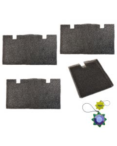 HQRP 4 pcs Air Filter for Dometic 457915 459516 459136 620515 620525 620526 630515 630516 641915 641916 641935 651915 651916 Series Roof Top Air Conditioners & Heat Pumps + HQRP UV Meter