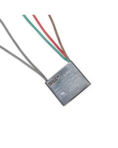 HQRP Capacitor works with Harbor Breeze Ceiling Fan 4uf+2.5uf+4uf 5-Wire plus HQRP Coaster