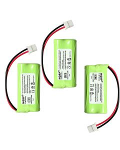 HQRP Phone Battery 3-Pack for ATT LUCENT CL82250 CL82300 CL82350 CL80100 CL82100 CL82200 Cordless Telephone + Coaster