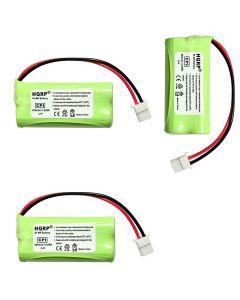 HQRP Cordless Phone Battery 3-Pack for VTech BT166342 CL84300 CL84350 CL82203 BT266342 CL84100 CL84200 CL84250 CL82353 CL82453 CL82553 CL80111 Replacement + Coaster