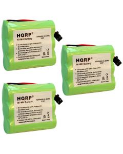 HQRP 3-Pack Battery for Uniden BT-1006 BT1006 EX945 EX965 EXA2245 EXA2850 EXA2950 EXA7250 EXA7950 EXA8955 EXA915 EXA918 EXAI4248 EXAI42482 EXAI4580 EXAI4581 Cordless Phone plus Coaster