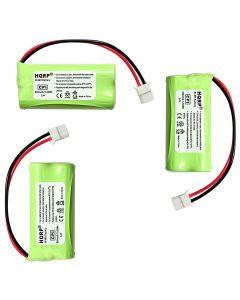 HQRP Cordless Phone Battery 3-Pack for VTech 89-1341-00-00 8913410000 BT175242 BT275242 Replacement + Coaster