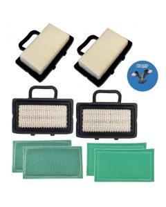 HQRP 4-pack Air Filter Kit for John Deere 125 135 145 LA135 LA120 LA130 LA135 LA140 LA145 LA150 LA155 X130R X140 X155R X165 155C 190C D130 D140 D150 D160 Lawn Garden Tractor + HQRP Coaster