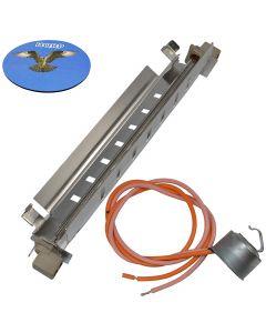 HQRP Defrost Heater and Thermostat for GE WR51X10055 WR50X10068 BSS25JFTAWW GSC22KGRDWW GSC23LGRCWW GSH25IFTBBB GSL25WGPEBS GSL25WGPHBS GSL25WGSBBS GSS25JETABB Refrigerator + HQRP Coaster