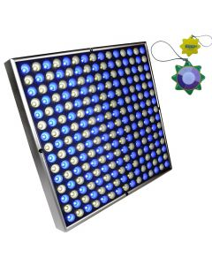 HQRP Powerful 45W 225 LED Grow Light Panel White & Blue 12&quot Square Lamp for Growing Indoor Plants Fruits Flowers Vegetables plus Hanging Kit + HQRP UV Meter